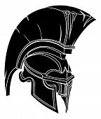 stock photo of mohawk  - An illustration of a spartan or trojan warrior or gladiator helmet - JPG