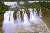 The best-known falls in the world - Iguazu. The magnificent rainbow costs over roaring water streams