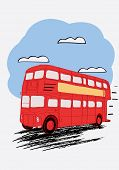 pic of bus driver  - London double Decker red bus - JPG