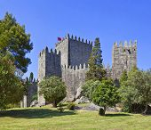 Guimaraes Castle, the most famous  castle in Portugal as it was the birth place of the first Portugu