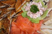 image of mahi  - Fish allsorts decorated with Salad and Shrimps - JPG