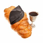 Challah Kiddush cup and Yarmulke