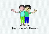 picture of  friends forever  - Happy Friendship day background Best Friends Forever - JPG