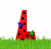 Alphabet Lady Bug Red L