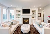 pic of mansion  - Beautiful Living Room in New Luxury Home - JPG