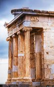 Temple Of Athena Nike Close Up At Acropolis
