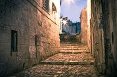 pic of sassy  - sassi the historic center of the city Matera in Italy details of old stairs - JPG