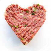 image of tatar  - tasty Steak tartare  - JPG