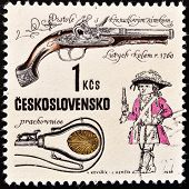 CZECHOSLOVAKIA - CIRCA 1969: stamp printed in Czechoslovakia shows ancient pistol series circa 1969