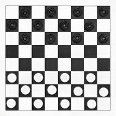 Starting Position On Draughts Board
