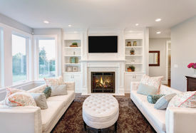 picture of mansion  - Beautiful Living Room in New Luxury Home - JPG