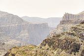 picture of jabal  - Image of landscape Jebel Akhdar Saiq Plateau in Oman - JPG