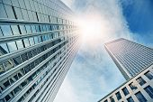 picture of frankfurt am main  - modern office buildings in Frankfurt am Main - JPG