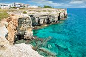 foto of crystal clear  - Crystal clear waters in Puglia southern Italy - JPG