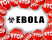 picture of hemorrhage  - illustration of stop ebola virus epidemic concept - JPG