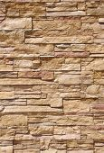 image of tile cladding  - Cladding tiles imitating stones in sunny day - JPG