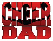 picture of cheerleader  - Illustration of a cheer design for cheerleaders dads - JPG