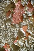 foto of humidity  - Effect of humidity on an old wall of residential - JPG