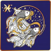 picture of horoscope signs  - Pisces zodiac sign - JPG