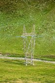 pic of utility pole  - High voltage poles in The Mountain - JPG