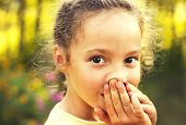 pic of unbelievable  - Little girl is shocked and surprised and so happy about it - JPG