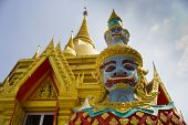 foto of guardian  - Demon Guardian At The Buddha Temple - JPG