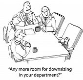 foto of midget  - Cartoon of four normal sized businessmen saying to midget businessman - JPG