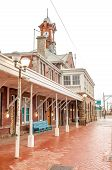 picture of south-western  - Muizenberg station in Cape Town in the Western Cape Province of South Africa on a rainy day - JPG