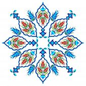 stock photo of ottoman  - Flower designs inspired by the Ottoman decorative arts - JPG