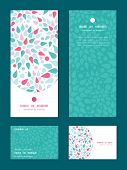 stock photo of greeting card design  - Vector abstract colorful drops vertical frame pattern invitation greeting - JPG