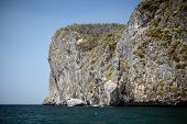 picture of phi phi  - The majestic cliffs of Phi Phi Island tropical paradise Thailand in the summer - JPG