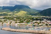picture of caribbean  - Colorful St Kitts twon in the Caribbean - JPG
