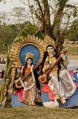 stock photo of goddess  - Hindu goddess Saraswati - JPG