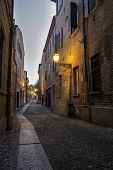 picture of ferrara  - Medieval street in the downtown of Ferrara city - JPG