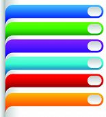 foto of oblong  - Set of bright colorful oblong design elements - JPG