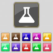 stock photo of conic  - Conical Flask icon sign - JPG