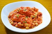 picture of cod  - Salt cod with chickpeas and tomatoes Roman - JPG