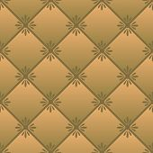 image of quilt  - Vector repeating pattern imitating quilted fabric brown - JPG
