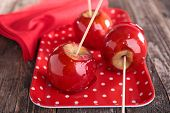 picture of toffee  - toffee apple - JPG