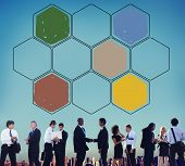 picture of honey bee hive  - Bee Hive Honey Community Teamwork Concept - JPG