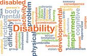 pic of disability  - Background concept wordcloud illustration of disability - JPG