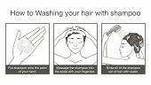 foto of cleanse  - Step cleansing hair with shampoo and Conditioner of women - JPG