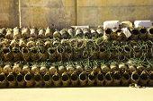 stock photo of octopus  - Vases used to fish octopus in Villajoyosa - JPG