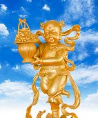 pic of prosperity  - Gold God of Wealth or prosperity  - JPG