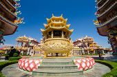 Постер, плакат: Naja Statue Of Chinese Shrine Temple Chonburi Thailand