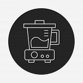 picture of juicer  - Juicer Line Icon - JPG