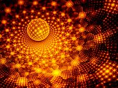 stock photo of graphene  - Fiery glowing sphere with fractal pattern computer generated abstract background - JPG