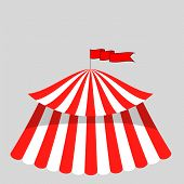 stock photo of circus tent  - Circus Tent Icon Isolated on Grey Background - JPG