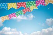 pic of reveillon  - Colored bunting for June Brazilian Festival - JPG