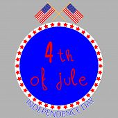 image of patriot  - Badge independence day - JPG
